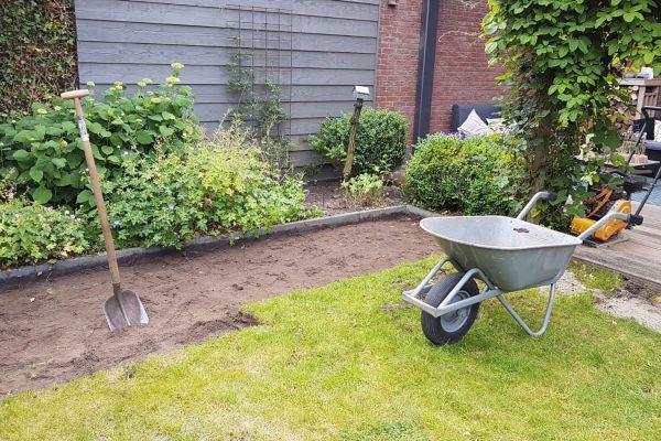 kunstgras zelf leggen tuin 4